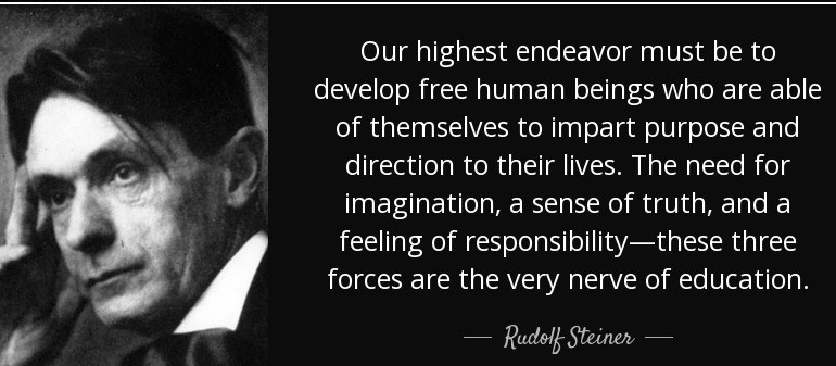 Education Towards Freedom:  Rudolf Steiner's vision